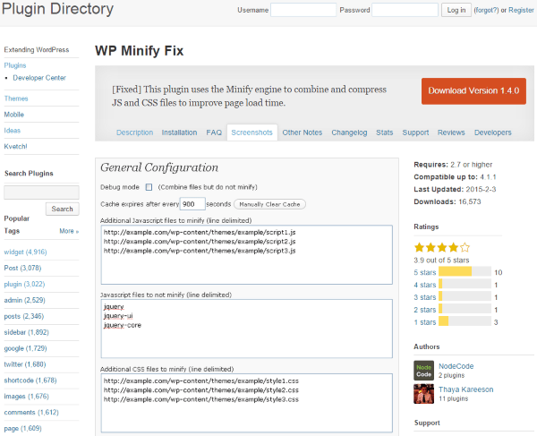 WP Minify Fix - Plugin