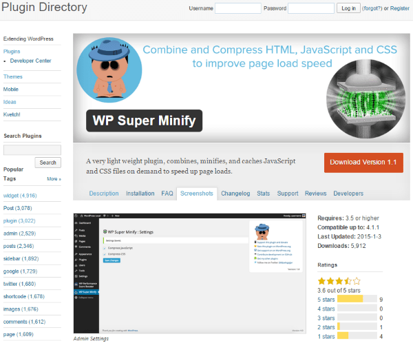 WP Super Minify - PlugIn