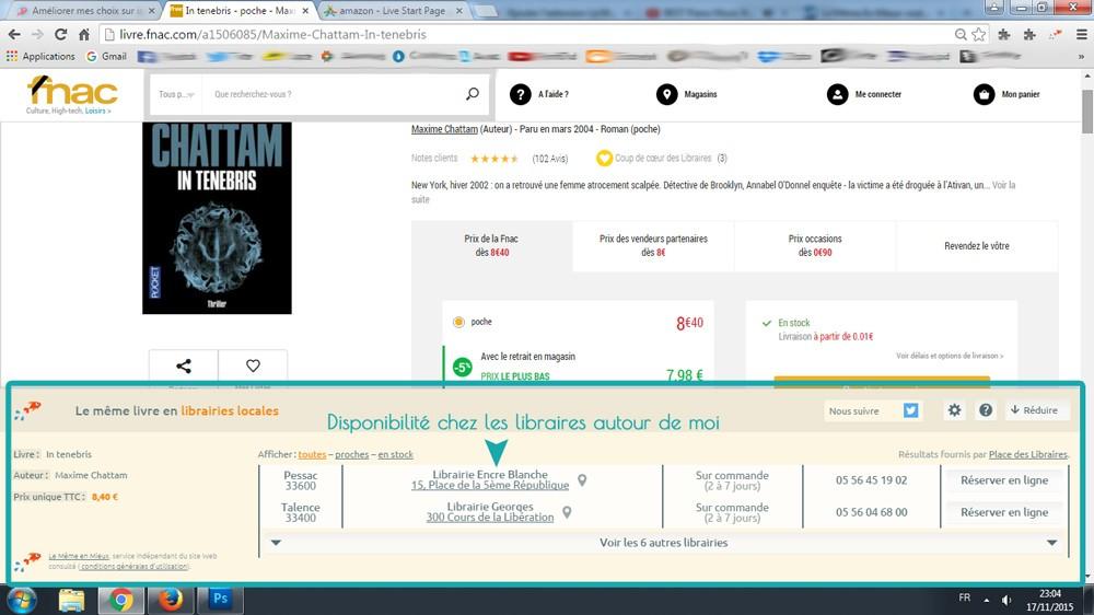Comparer un livre sur Fnac.com avec Le Même en Mieux