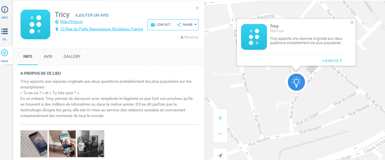 Startup in Bordeaux Tricy App
