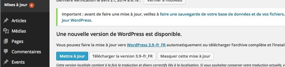 Mettre à jour WordPress pour se protéger du piratage et des hackers