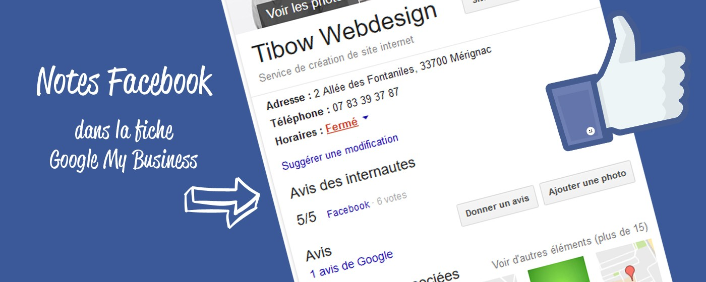 Ajouter les notes et avis Facebook à Google My Business