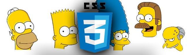 Les Simpsons en CSS3 par Chris Pattle