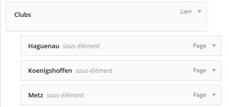 hierarchie menu WordPress