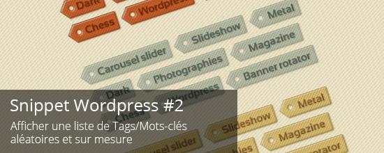 WordPress : Afficher une liste de Tags aléatoires et sur-mesure