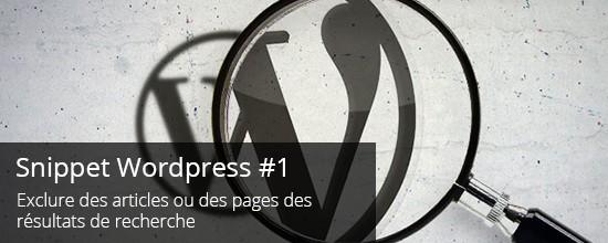 WordPress : Exclure des articles ou pages des résultats de recherche