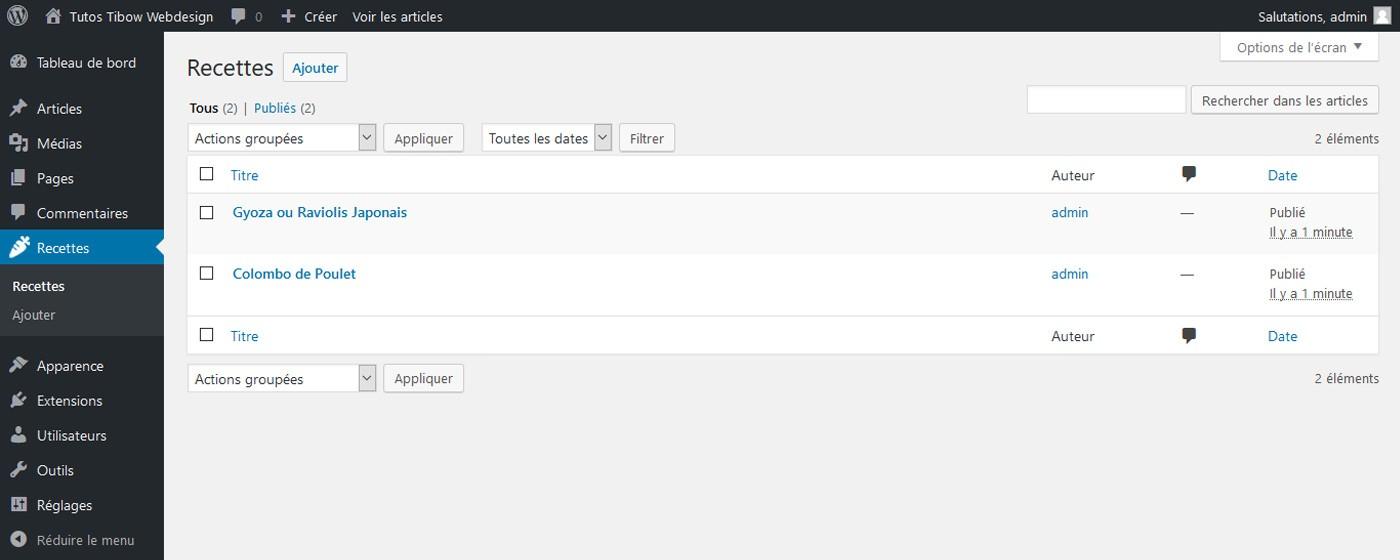 Créer un Custom Post Type en quelques minutes !