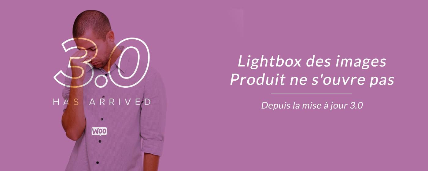 Problème Lightbox images produit depuis mise à jour WooCommerce 3.0