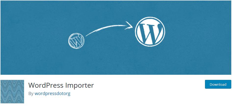 Extension WordPress Importer