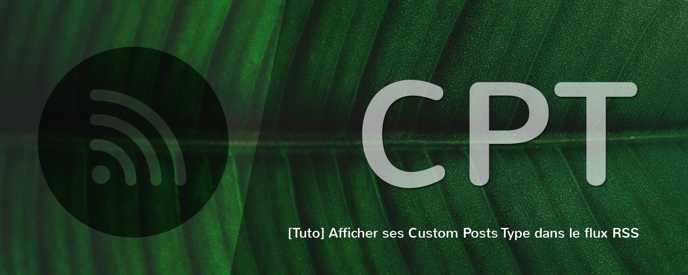 Ajouter vos Custom Post Types (CPT) au flux RSS de WordPress