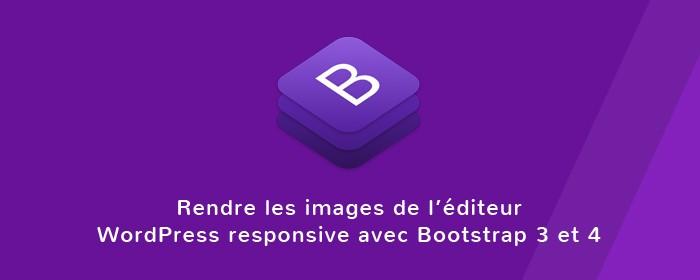 Rendre les images responsive éditeur Wordpress avec Bootstrap